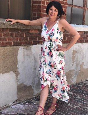 White Floral Maxi Dress -