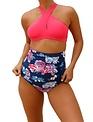 Queen Pink and Navy Bikini Set