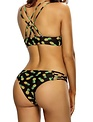 Queen Pineapple Two Piece Bathing Suit Full-Figured