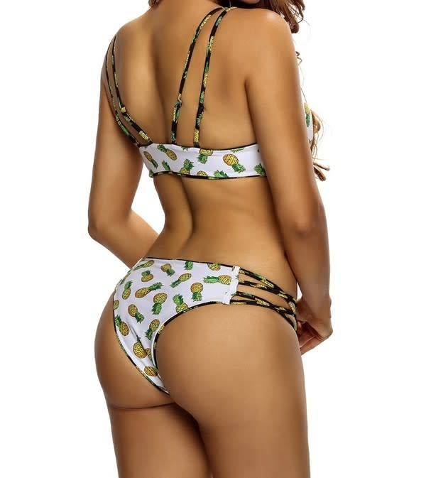 Pineapple Two Piece Bathing Suit Full-Figured