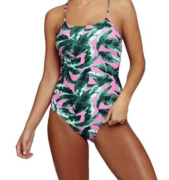 Queen Multi Leaf Colored One Piece Bathing Suit