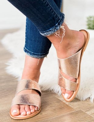 Naughty Monkey Spirited Rose Gold Sandal