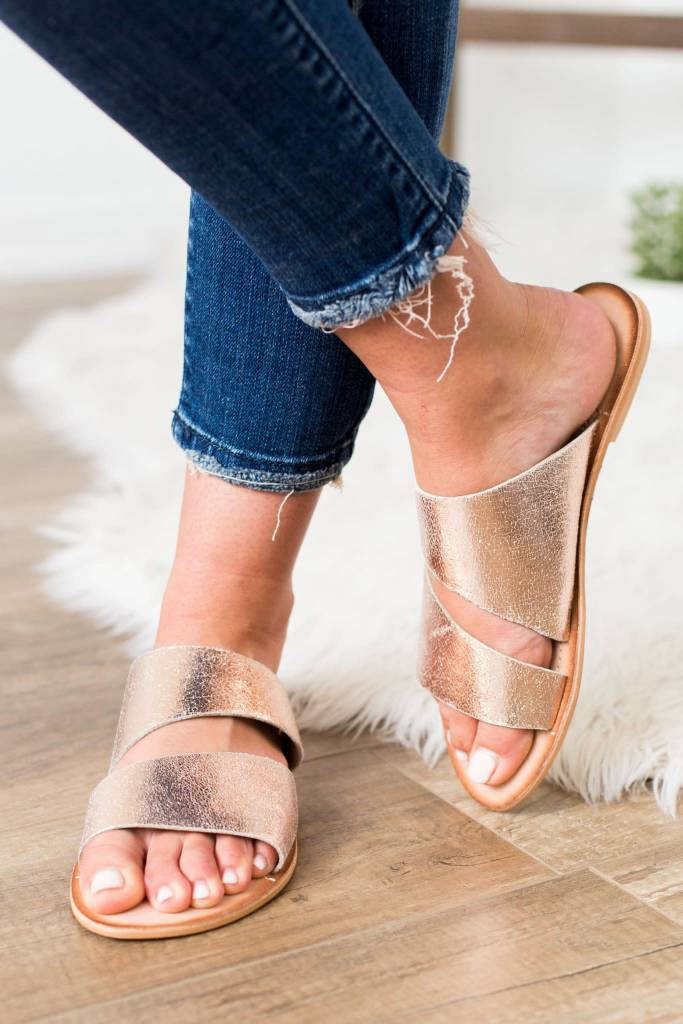 Spirited Rose Gold Sandal