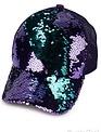 C.C MAGIC SEQUIN MESSY BUN BASEBALL CAP