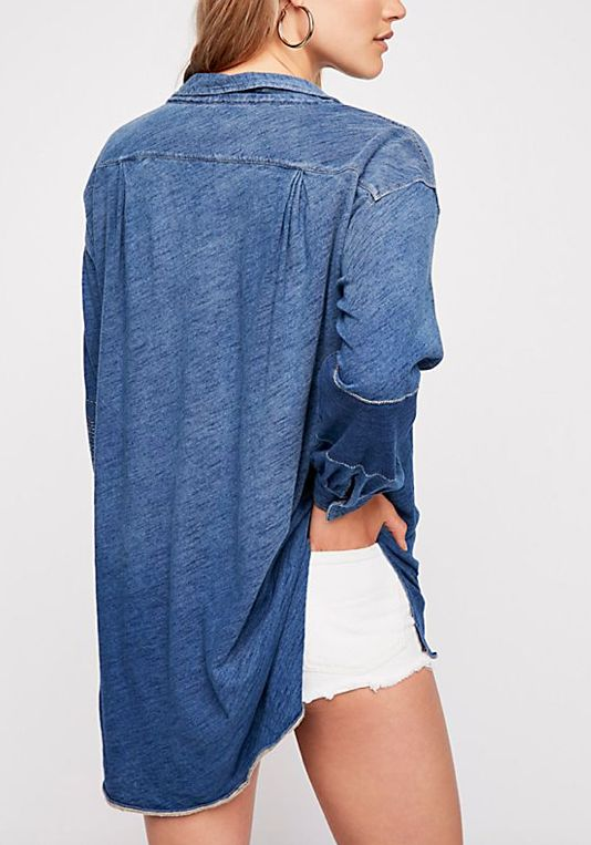 """Free People Love This Henley """"NAVY"""""""
