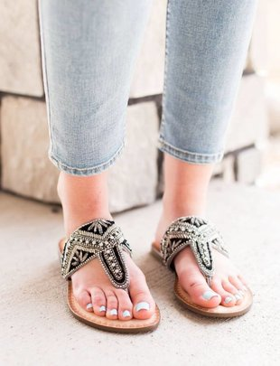 Naughty Monkey Amare - Pewter Sandal