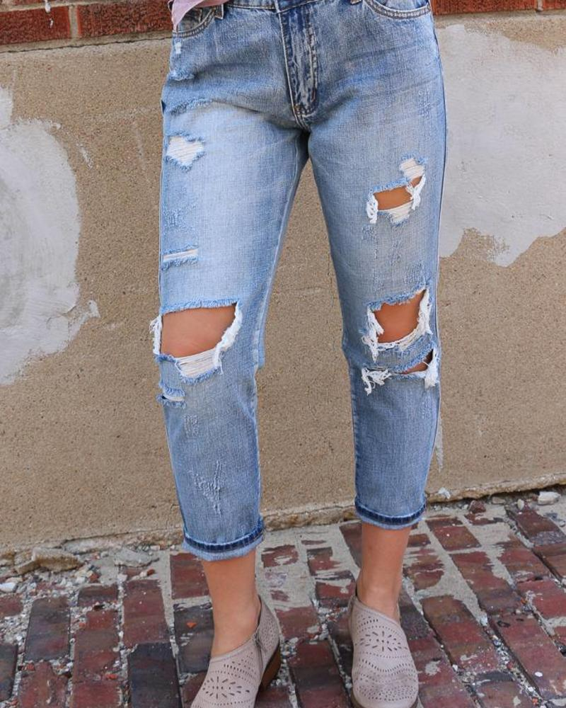 Kan Can Kan Can- Canon May Distressed Boyfriend Denim