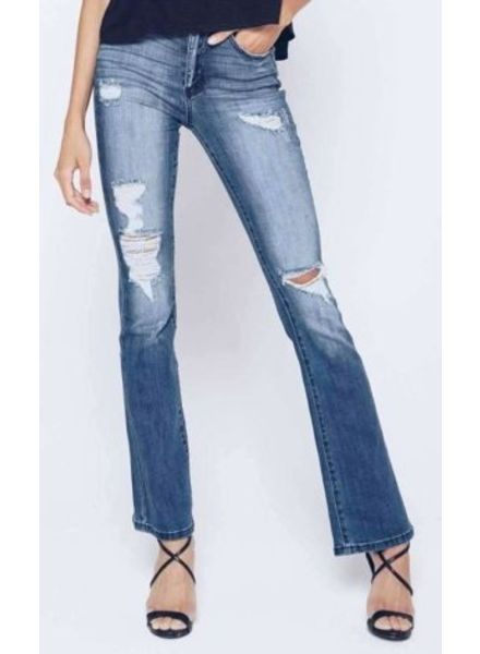 Kan Can Kan Can- Kimmy Arlene Distressed Bootcut Jean