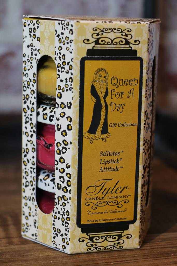 Tyler Candle 3.4 oz Queen for a Day! Candle Gift Set