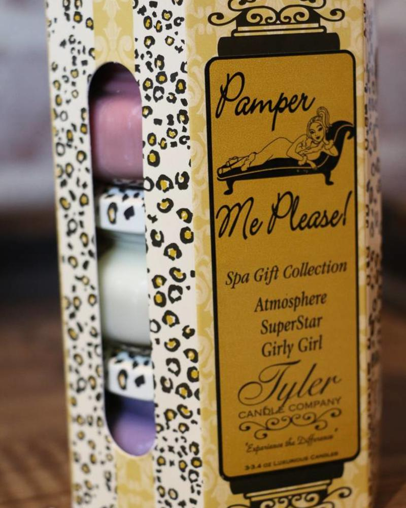 3.4 oz Pamper Me Please! Candle Gift Set