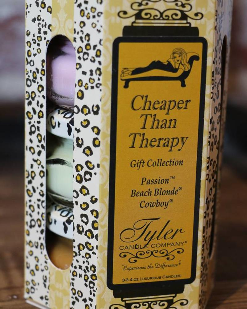 3.4 oz Cheaper Than Therapy Candle Gift Set