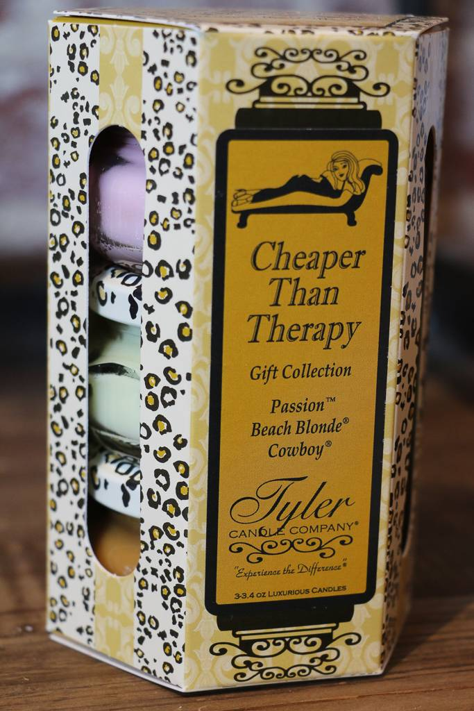 Tyler Candle 3.4 oz Cheaper Than Therapy Candle Gift Set