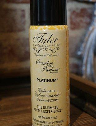 "Tyler Candle 4 oz Chambre Room Parfum ""Platinum"""