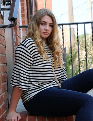 Z Supply The Striped Ruffle Tee
