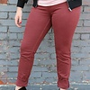 Free People Red Long & Lean Jegging