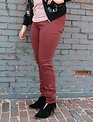 Free People Free People Red Long & Lean Jegging