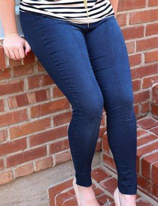 Free People Free People - Seamed Pull-On Skinny Jeans