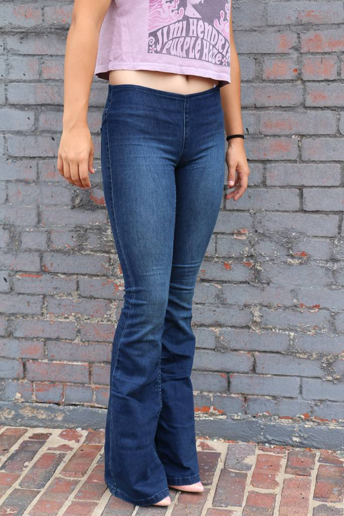 Free People Pull on Penny Flare Jean