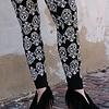 Vocal Leggings - White Sugar Skull Leggings