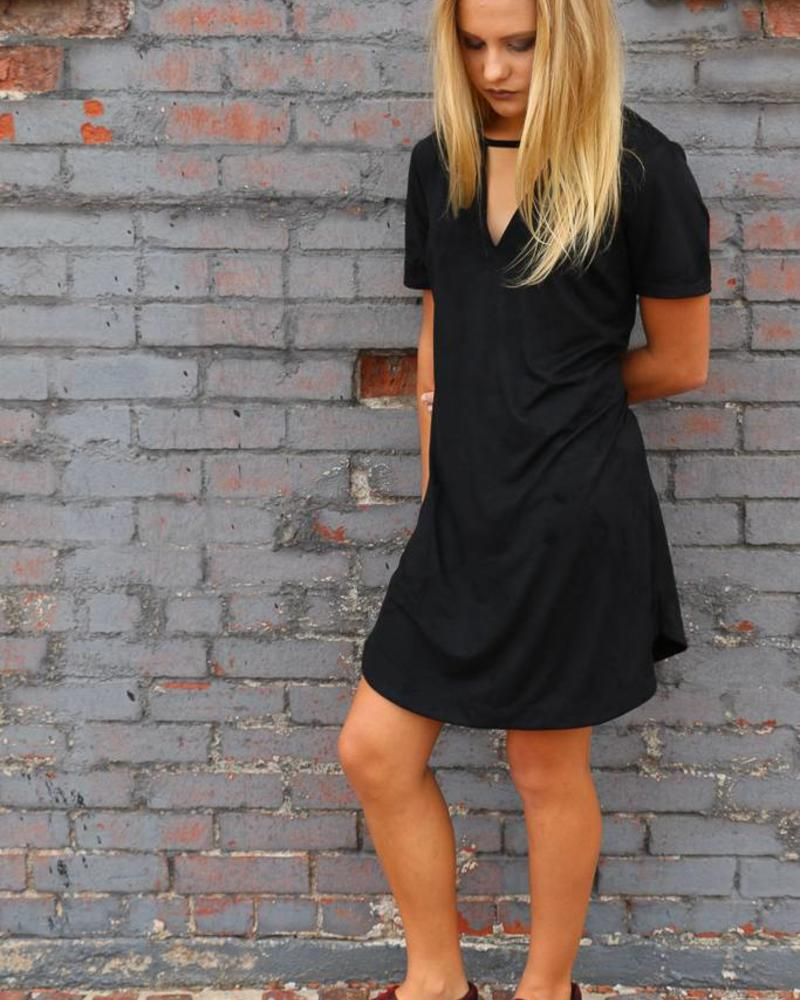 The Suede Cut-Out Dress
