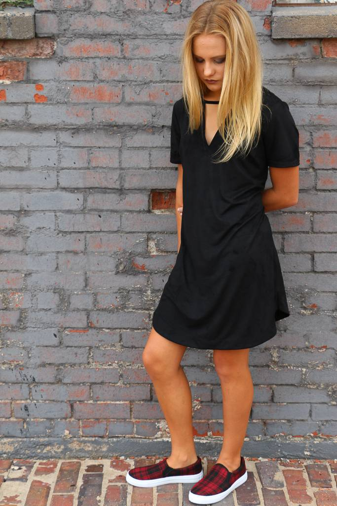 Z Supply The Suede Cut-Out Dress