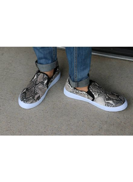 Snake Skin Reba Slip on Sneakers