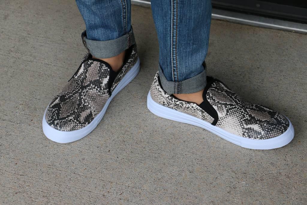 Snake Skin Reba Slip on Sneakers