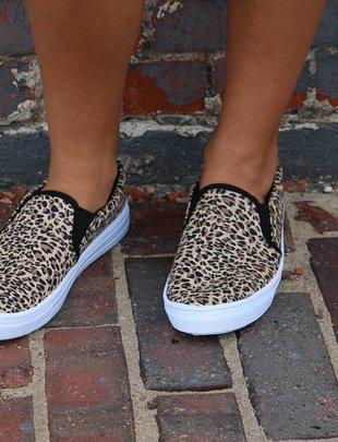 Leopard Reba Slip on Sneakers