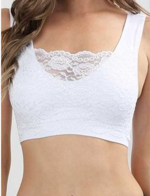 SEAMLESS LACE FRONT BRALETTE  -
