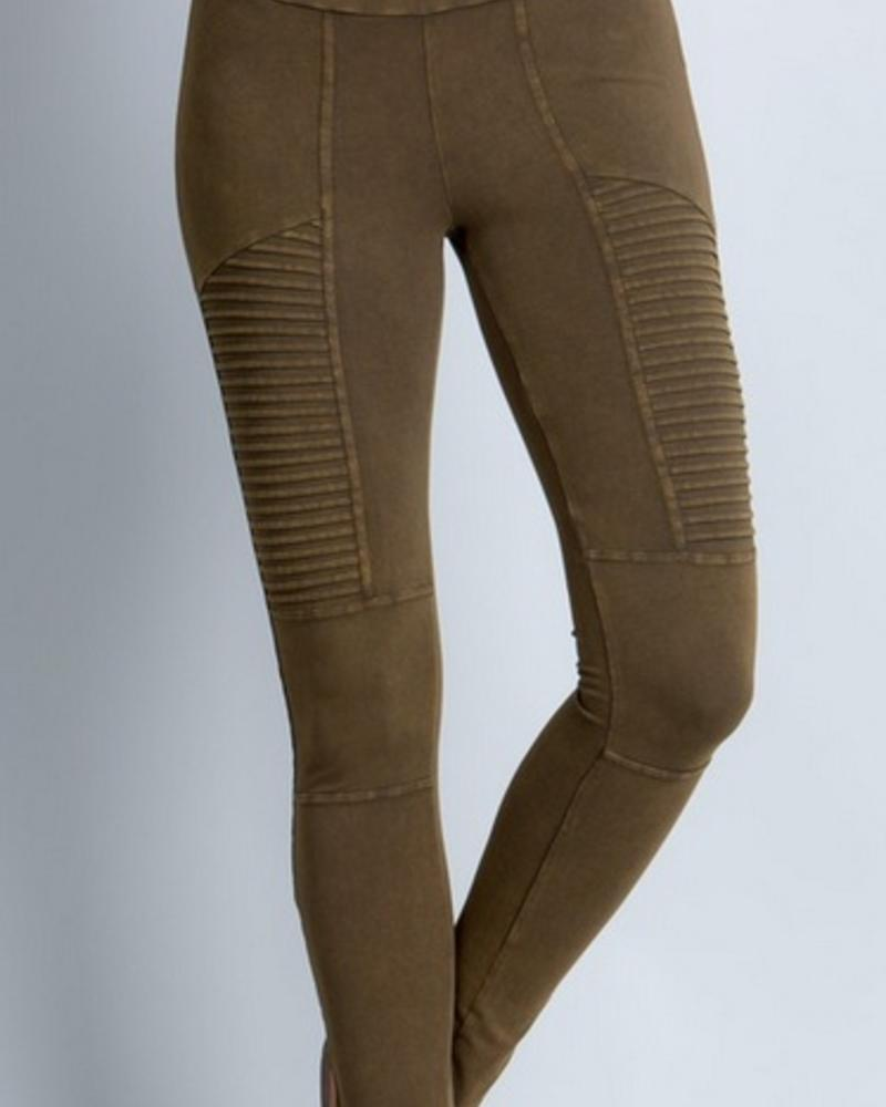 MINERAL WASHED MOTO LEGGINGS -