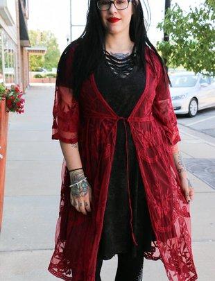 Lace Kimono Duster -