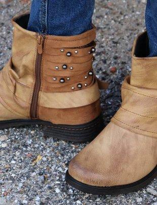 Pierre Dumas Perham- New Tan Studded Boot -