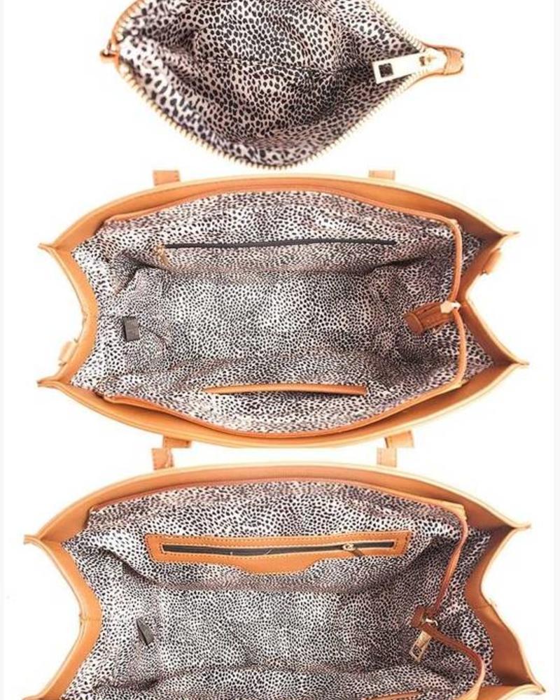 Light Coffee 3 in 1 handbag