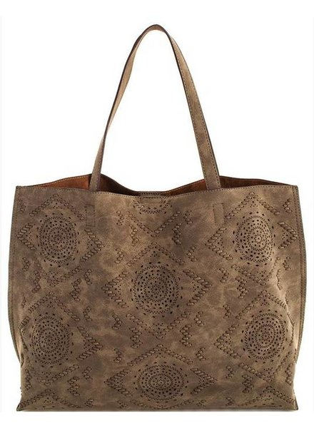 Olive Street Level Stylish Patterned Tote