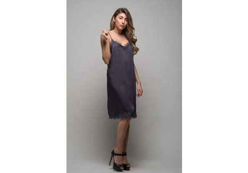 Nouveau Noir Donna Strap Knee Dress in Ombre Blue