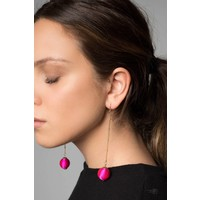 Nina Dangle Earrings in Pink