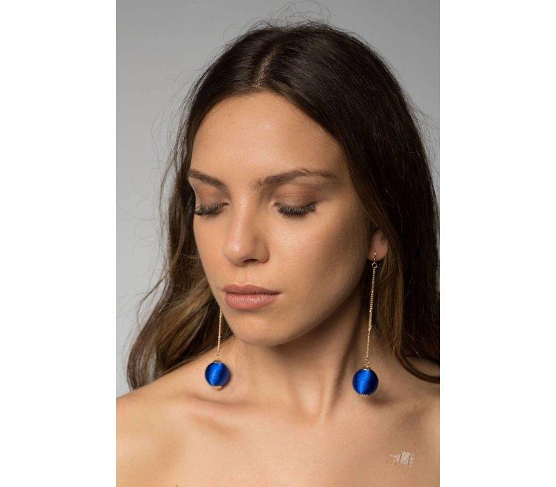 Nina Dangle Earrings in Royal Blue