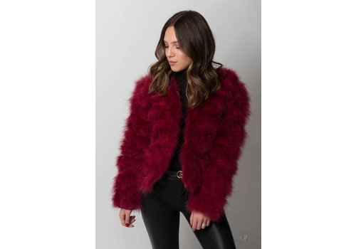 Nouveau Noir Belledonne Ostrich Feather Jacket