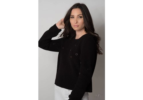 Nouveau Noir Ulrikke Detail Pullover Knit