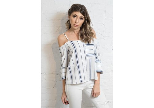 Sailor Cold Shoulder Top