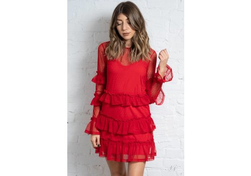 Fifth Label National LS Dress Red