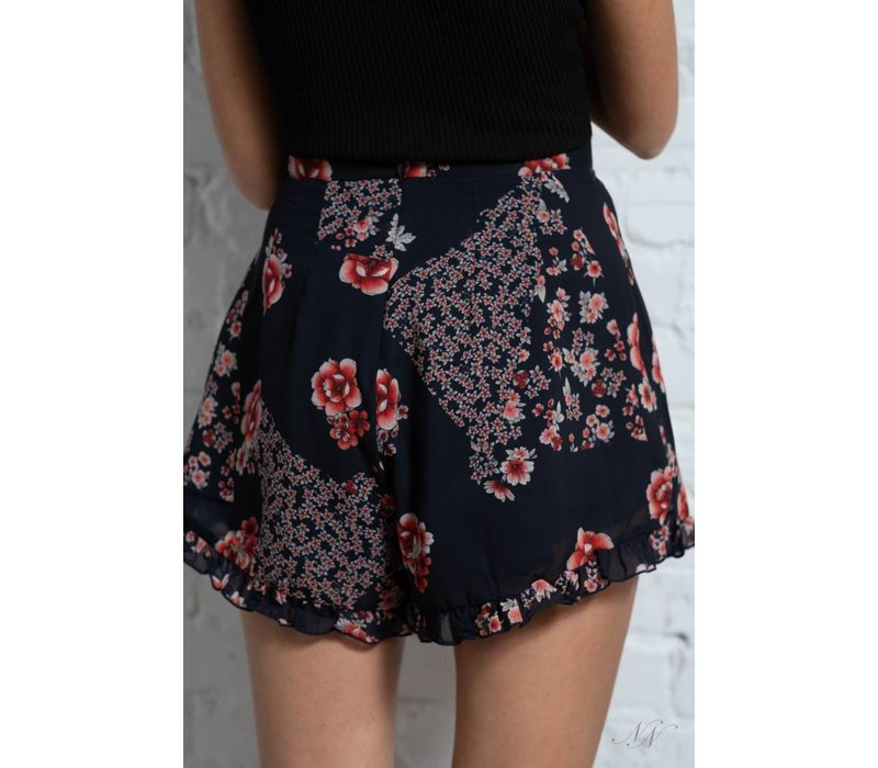 East Shorts Navy Patchwork