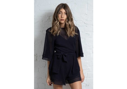 Finders Keepers Mirage Playsuit Navy