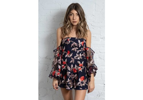 Finders Keepers Rituals Playsuit Navy
