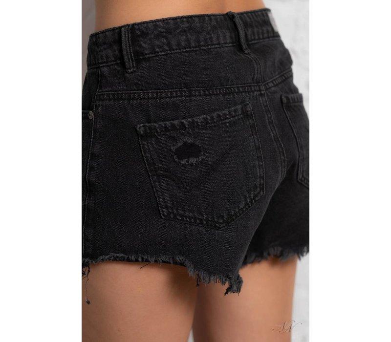 Pacy Raw Edge Shorts Black