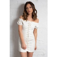 Loose Cannon Lace Up Dress