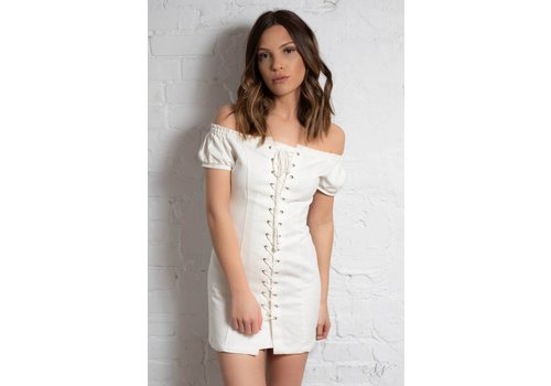 Nouveau Noir Loose Cannon Lace Up Dress