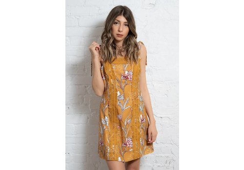 Finders Keepers Rotation Mini Dress Marigold Floral