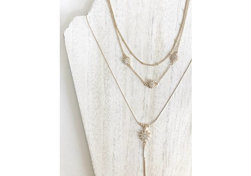 Nouveau Noir Nikki Layered Star Necklace Gold