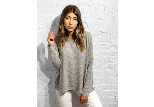 Nouveau Noir Maye Pullover Knit Light Grey Melange